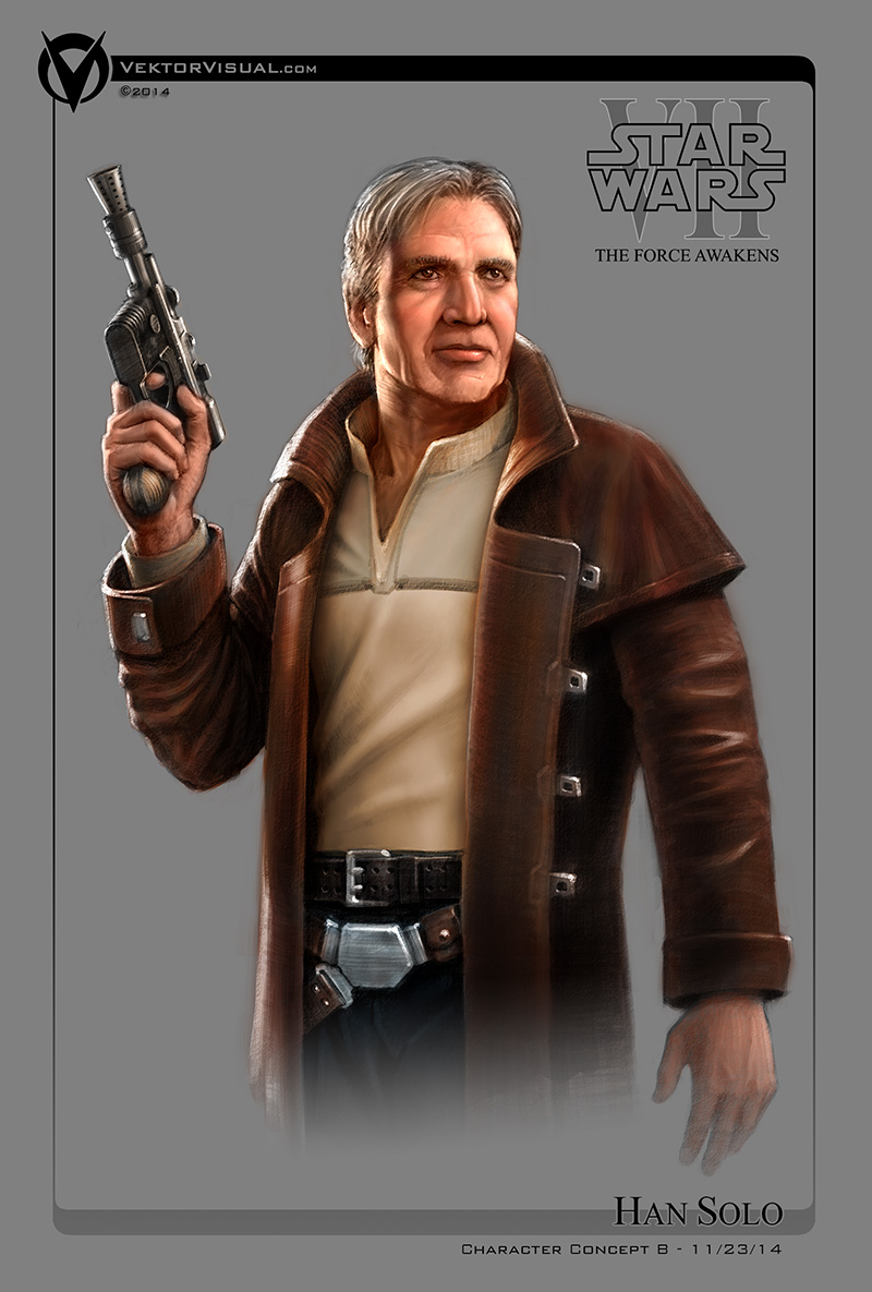 Star Wars Episode VII - Han Solo Character Concept B